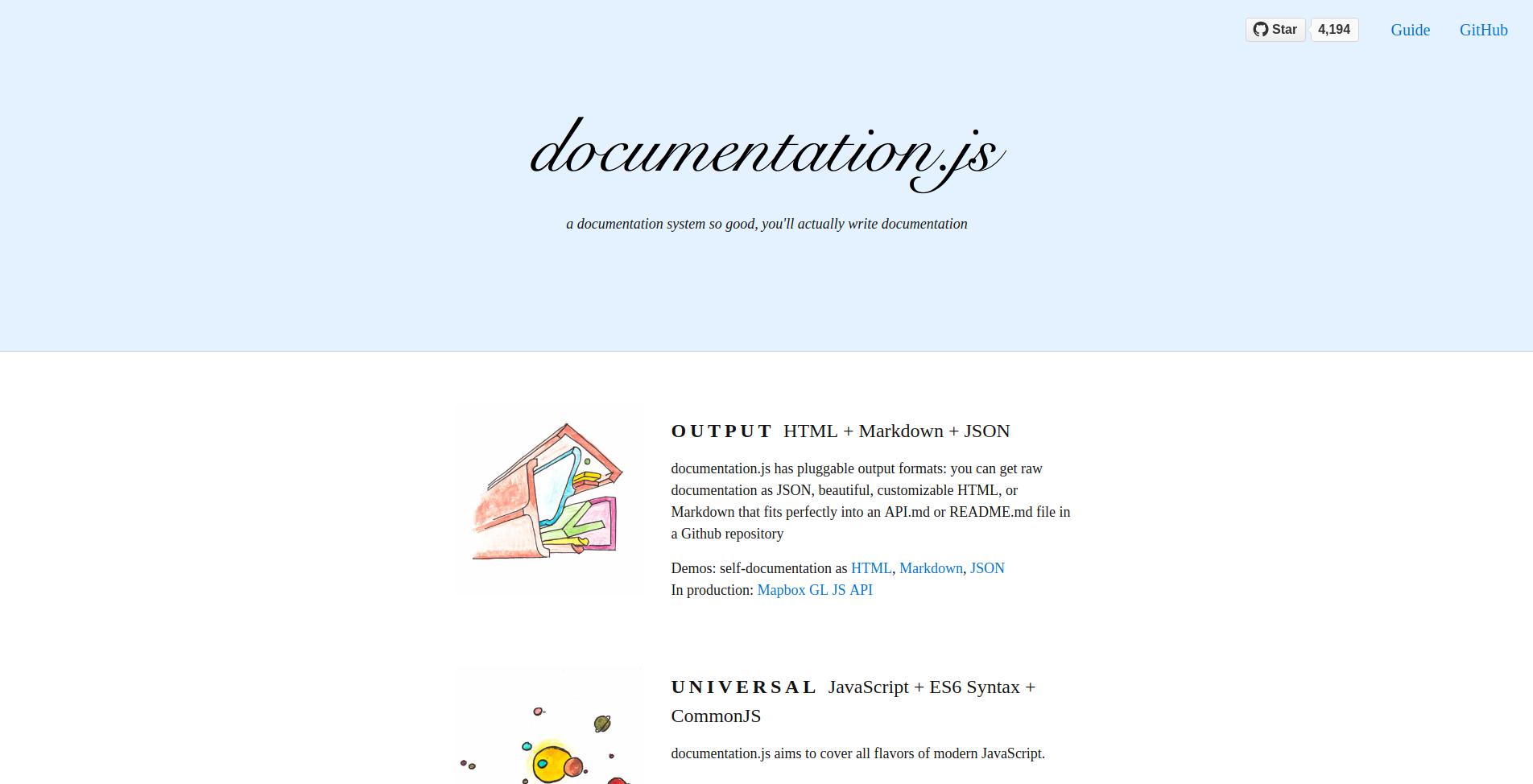 Let's talk JS ⚡: documentation