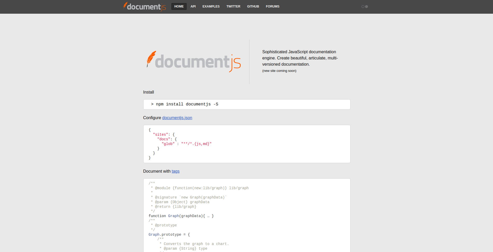 Let's talk JS ⚡: documentation