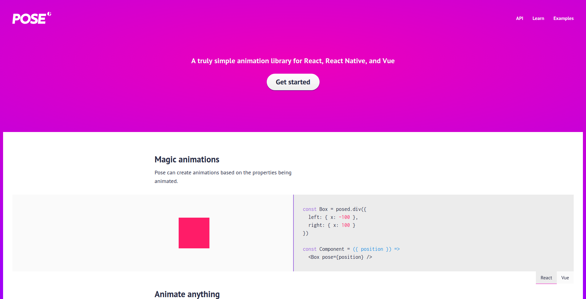 React animation libraries