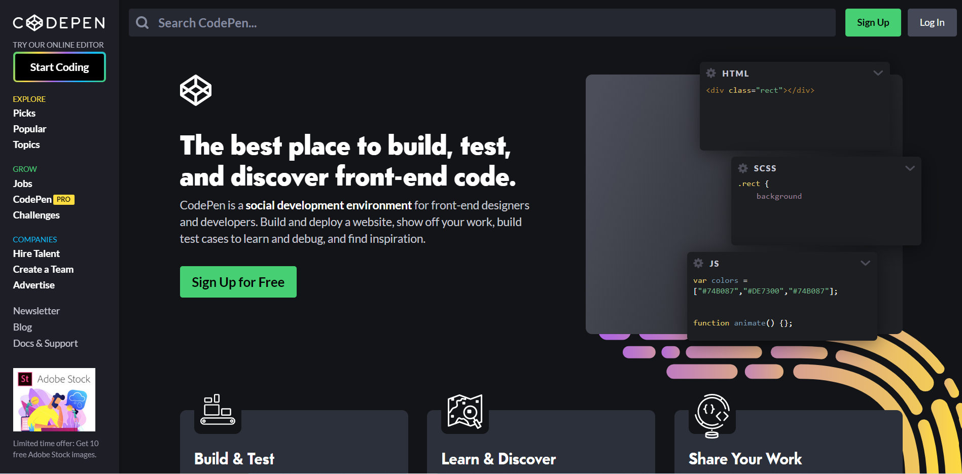CodePen website
