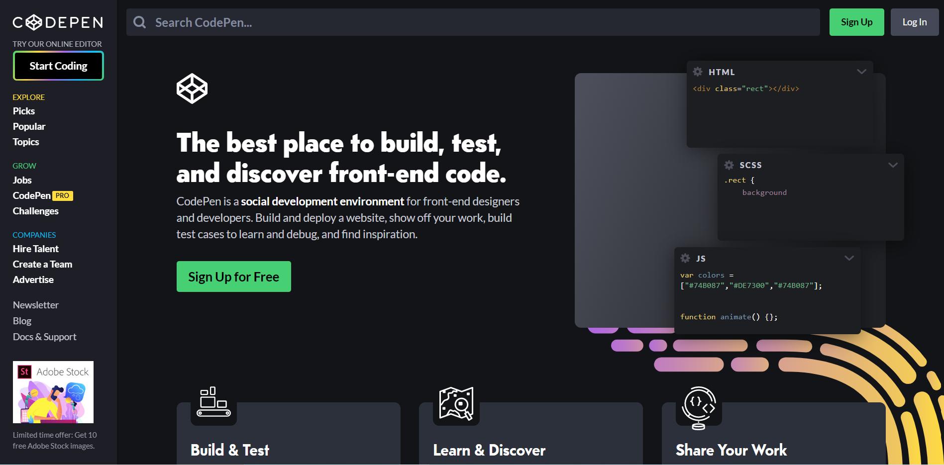 CodePen website