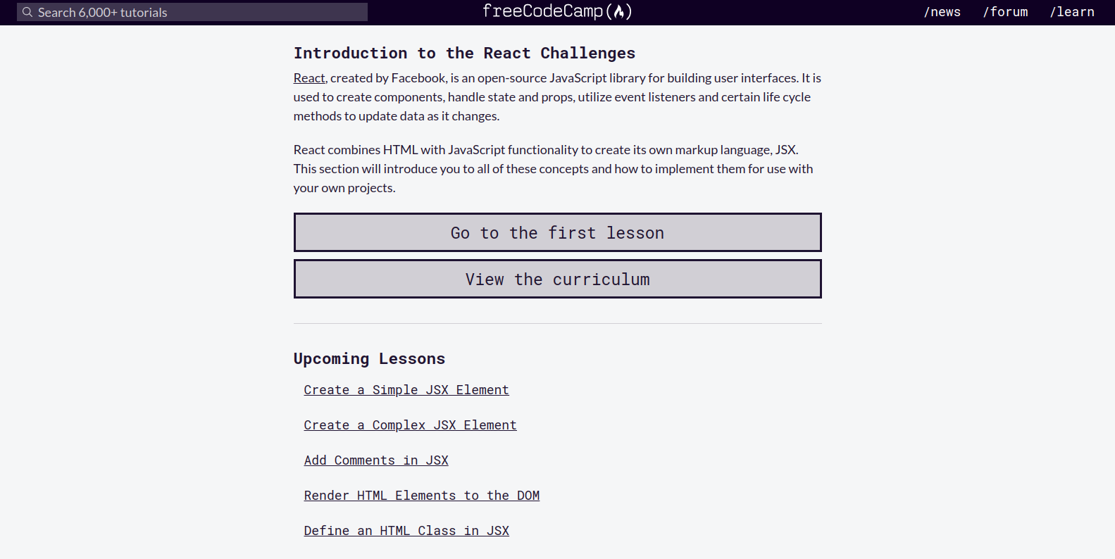 FreeCodeCamp React Challenges