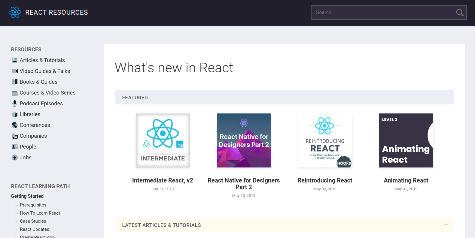 React Resources