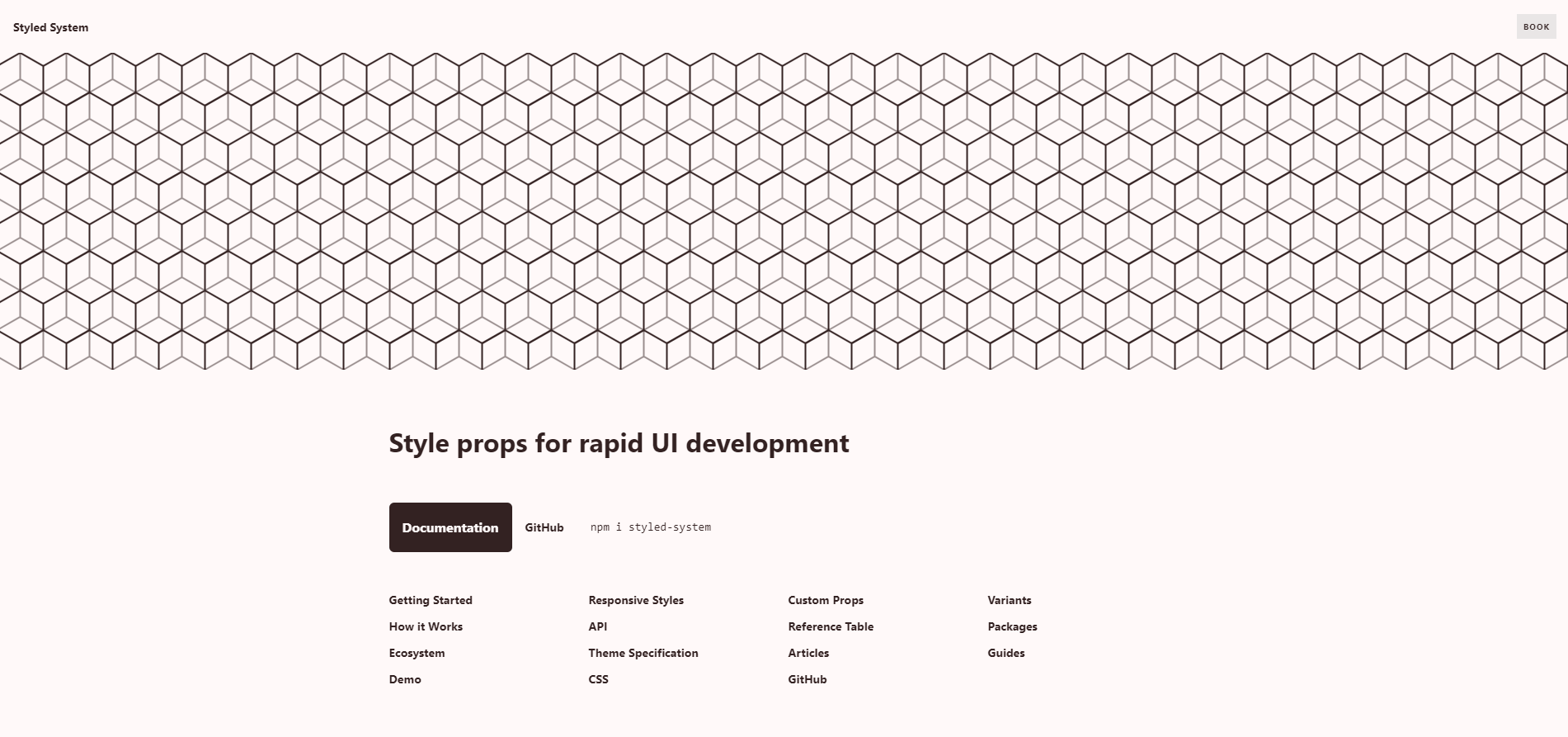 Styled System landing page