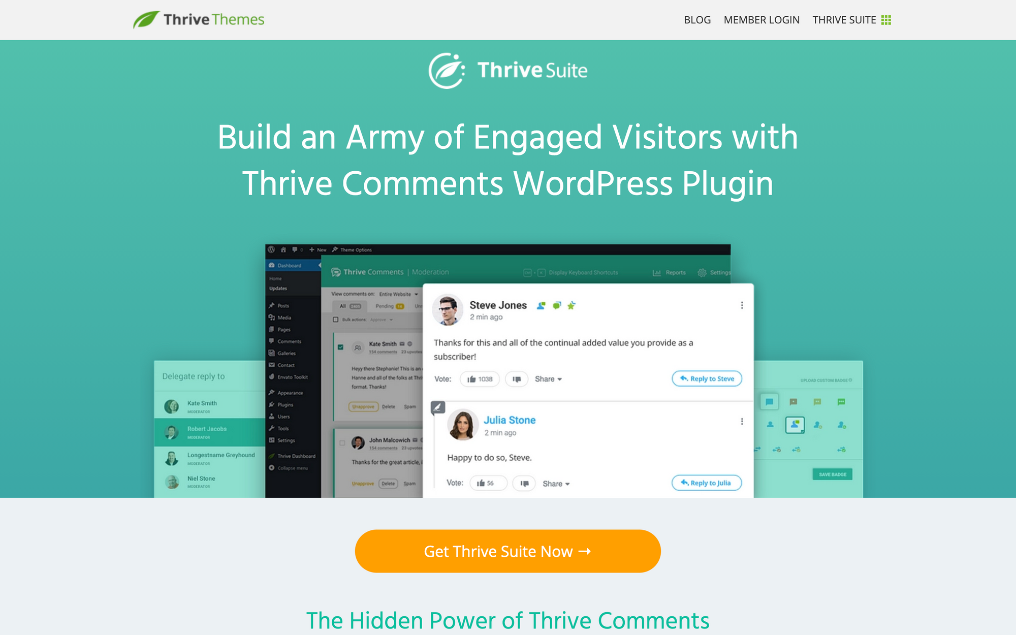 Thrive Comments landing page